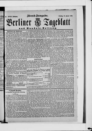 Berliner Tageblatt und Handels-Zeitung vom 15.01.1889