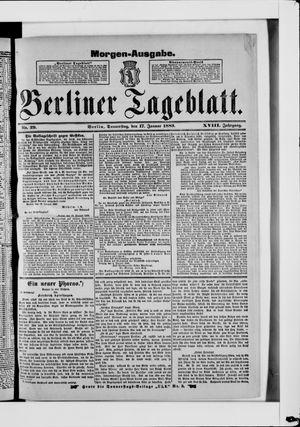 Berliner Tageblatt und Handels-Zeitung vom 17.01.1889