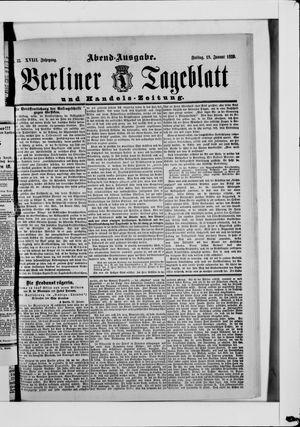 Berliner Tageblatt und Handels-Zeitung on Jan 18, 1889