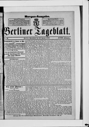 Berliner Tageblatt und Handels-Zeitung vom 19.01.1889