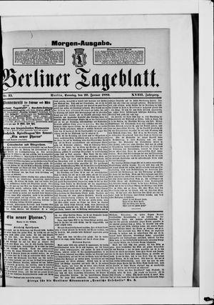 Berliner Tageblatt und Handels-Zeitung on Jan 20, 1889