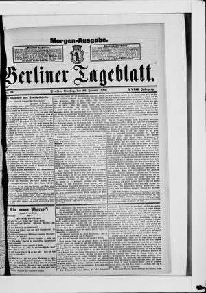 Berliner Tageblatt und Handels-Zeitung vom 22.01.1889