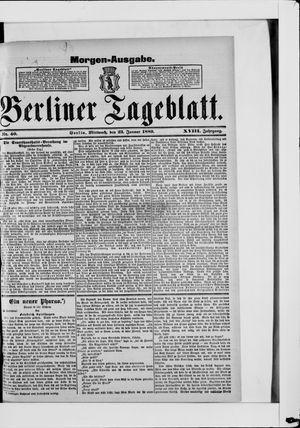 Berliner Tageblatt und Handels-Zeitung vom 23.01.1889