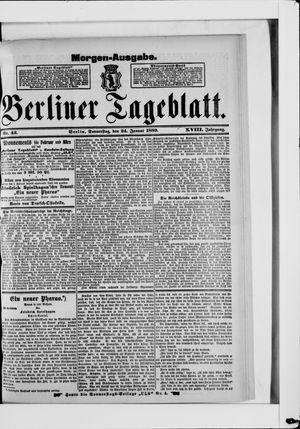 Berliner Tageblatt und Handels-Zeitung vom 24.01.1889