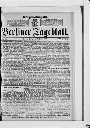 Berliner Tageblatt und Handels-Zeitung vom 25.01.1889