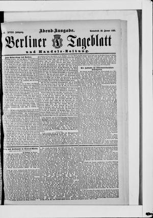 Berliner Tageblatt und Handels-Zeitung vom 26.01.1889