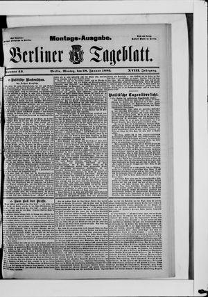 Berliner Tageblatt und Handels-Zeitung vom 28.01.1889