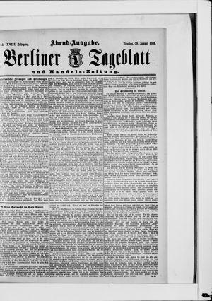 Berliner Tageblatt und Handels-Zeitung vom 29.01.1889