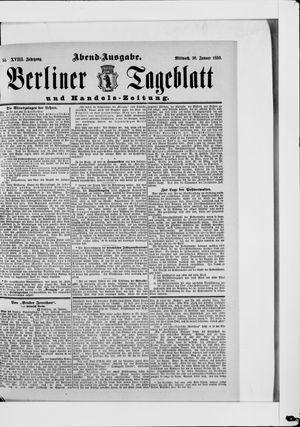 Berliner Tageblatt und Handels-Zeitung on Jan 30, 1889