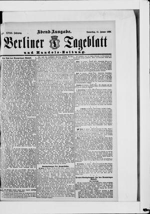 Berliner Tageblatt und Handels-Zeitung on Jan 31, 1889