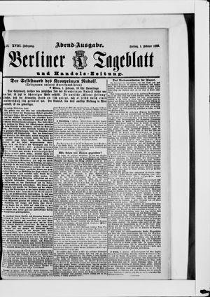 Berliner Tageblatt und Handels-Zeitung vom 01.02.1889
