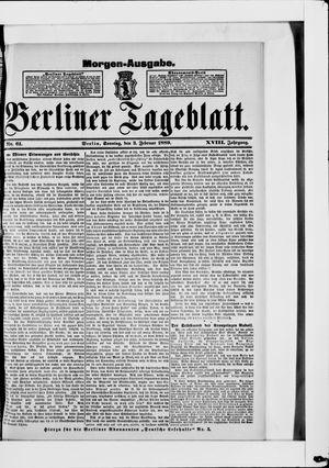 Berliner Tageblatt und Handels-Zeitung vom 03.02.1889