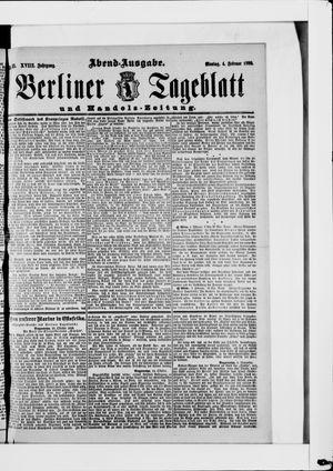 Berliner Tageblatt und Handels-Zeitung vom 04.02.1889