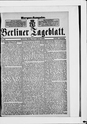 Berliner Tageblatt und Handels-Zeitung vom 05.02.1889
