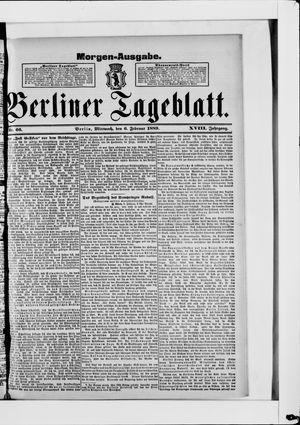 Berliner Tageblatt und Handels-Zeitung vom 06.02.1889