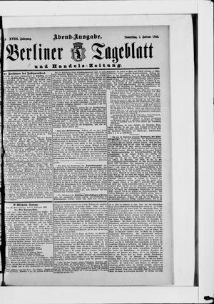 Berliner Tageblatt und Handels-Zeitung vom 07.02.1889