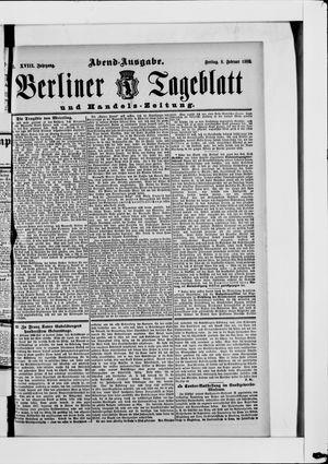 Berliner Tageblatt und Handels-Zeitung vom 08.02.1889