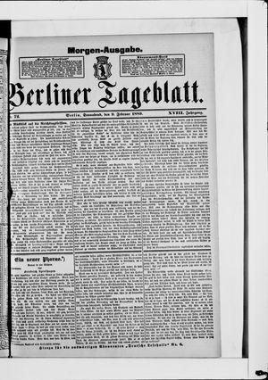 Berliner Tageblatt und Handels-Zeitung on Feb 9, 1889