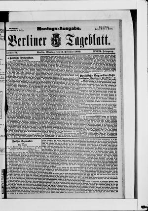 Berliner Tageblatt und Handels-Zeitung vom 11.02.1889