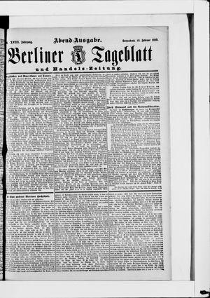 Berliner Tageblatt und Handels-Zeitung vom 16.02.1889