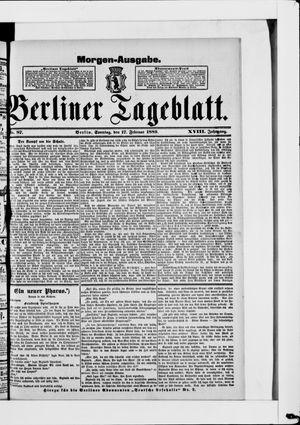 Berliner Tageblatt und Handels-Zeitung vom 17.02.1889