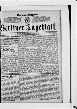 Berliner Tageblatt und Handels-Zeitung vom 20.02.1889