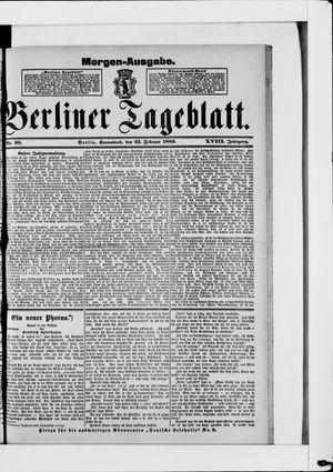 Berliner Tageblatt und Handels-Zeitung on Feb 23, 1889