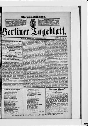 Berliner Tageblatt und Handels-Zeitung on Feb 24, 1889