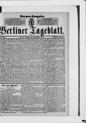 Berliner Tageblatt und Handels-Zeitung vom 26.02.1889