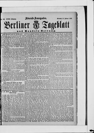 Berliner Tageblatt und Handels-Zeitung vom 27.02.1889