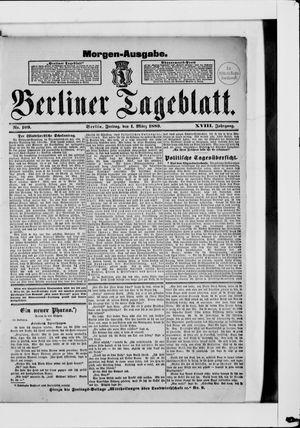 Berliner Tageblatt und Handels-Zeitung vom 01.03.1889