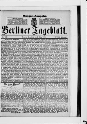 Berliner Tageblatt und Handels-Zeitung vom 02.03.1889