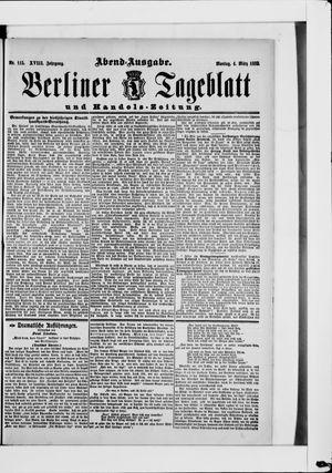 Berliner Tageblatt und Handels-Zeitung vom 04.03.1889