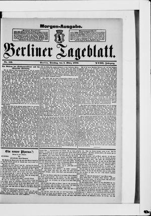 Berliner Tageblatt und Handels-Zeitung vom 05.03.1889