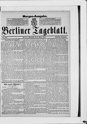 Berliner Tageblatt und Handels-Zeitung vom 06.03.1889