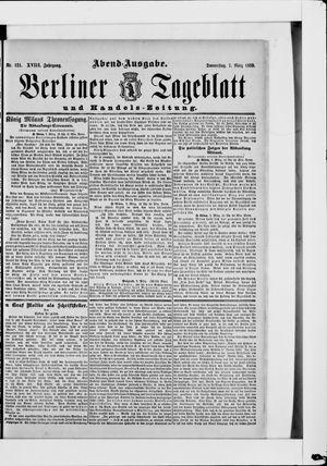Berliner Tageblatt und Handels-Zeitung vom 07.03.1889