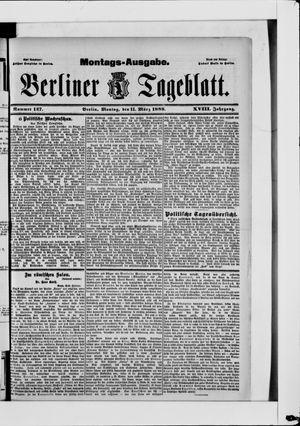 Berliner Tageblatt und Handels-Zeitung vom 11.03.1889