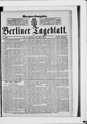 Berliner Tageblatt und Handels-Zeitung vom 15.03.1889