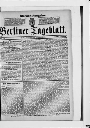 Berliner Tageblatt und Handels-Zeitung vom 16.03.1889