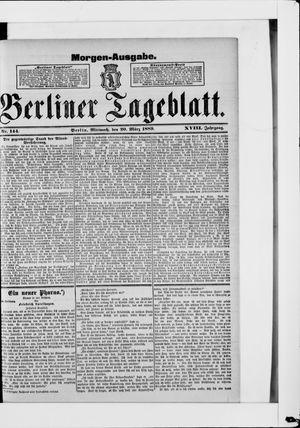 Berliner Tageblatt und Handels-Zeitung vom 20.03.1889