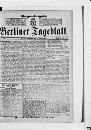 Berliner Tageblatt und Handels-Zeitung vom 21.03.1889