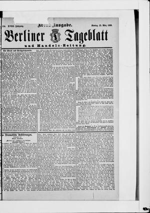 Berliner Tageblatt und Handels-Zeitung vom 25.03.1889
