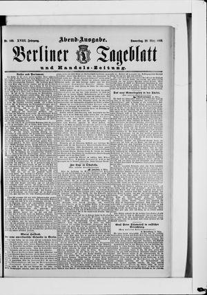 Berliner Tageblatt und Handels-Zeitung vom 28.03.1889