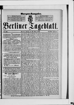 Berliner Tageblatt und Handels-Zeitung vom 29.03.1889