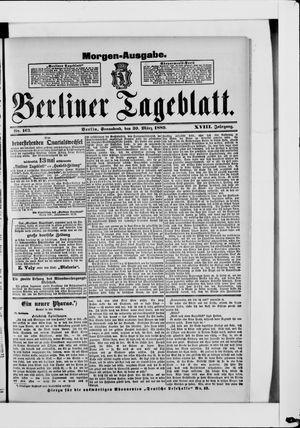 Berliner Tageblatt und Handels-Zeitung on Mar 30, 1889