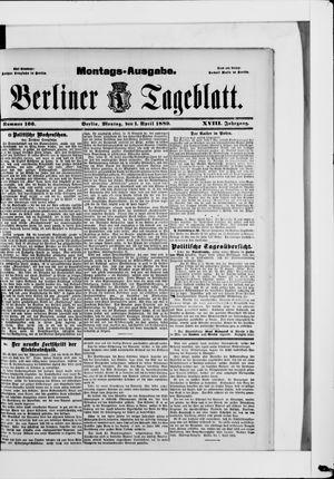 Berliner Tageblatt und Handels-Zeitung vom 01.04.1889