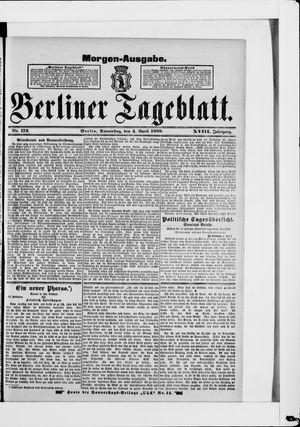 Berliner Tageblatt und Handels-Zeitung vom 04.04.1889