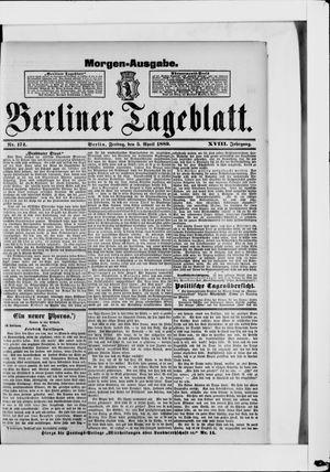 Berliner Tageblatt und Handels-Zeitung vom 05.04.1889