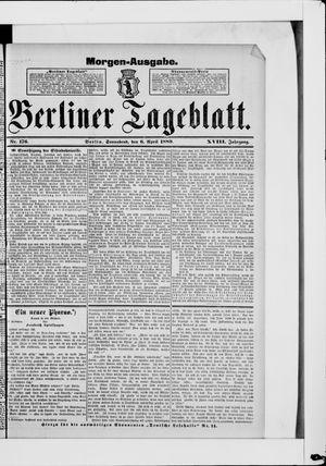 Berliner Tageblatt und Handels-Zeitung on Apr 6, 1889