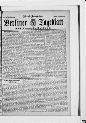 Berliner Tageblatt und Handels-Zeitung vom 08.04.1889